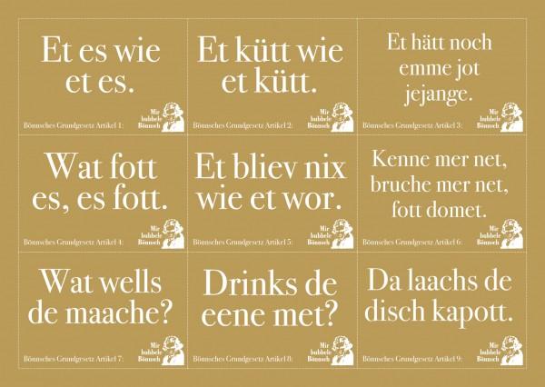 Stickerpostkarte - Bönnsche Grundgesetz
