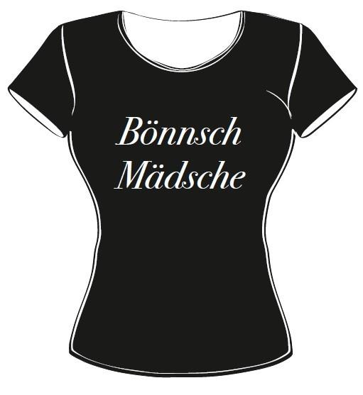 T-Shirt - Bönnsch Mädsche schwarz Größe M