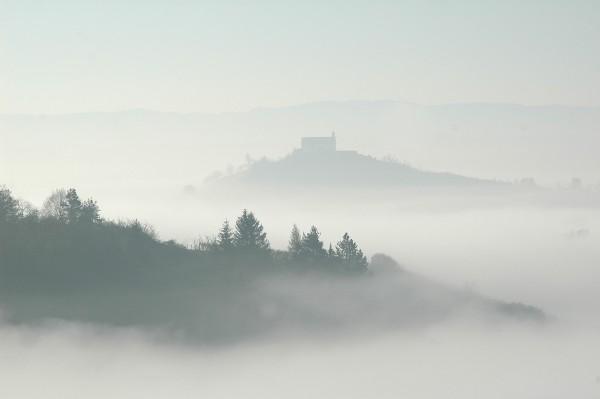Grußkarte - Die Wurmlinger Kapelle im Morgendunst