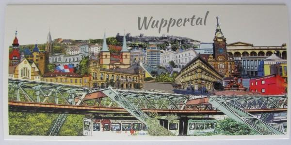 Postkarte - Röttgers - Panorama Wuppertal