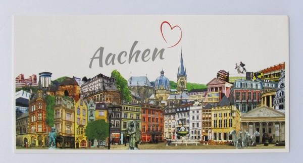 Postkarte - Röttgers - Panorama Aachen