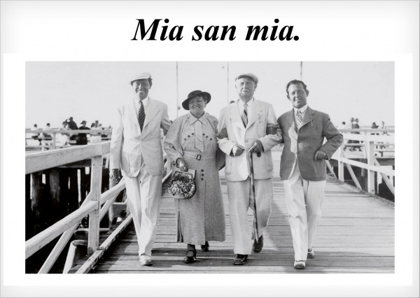 Postkarte - Mia san mia.