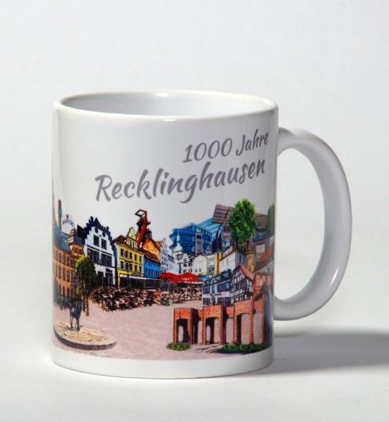 Tasse - Röttgers -1000 Jahre Recklinghausen - Panorama