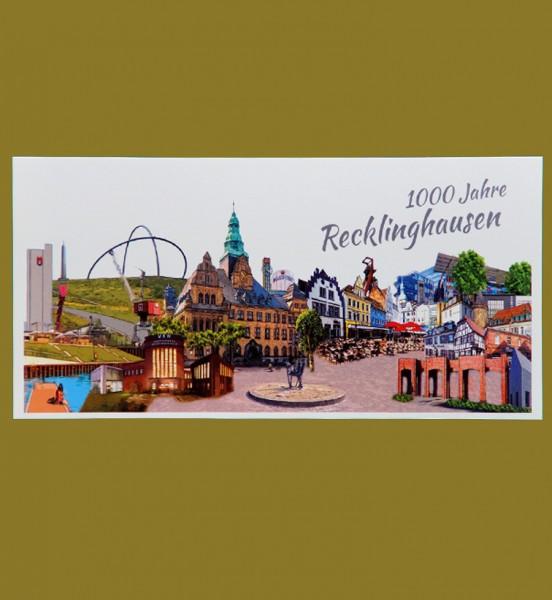 Panoramakarte - Röttgers - Panorama - 1000 Jahre Recklinghausen-Copy