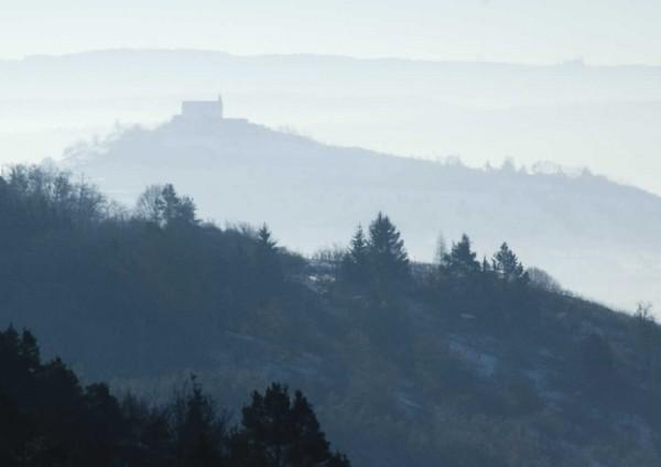 Grußkarte - Blick zu Wurmlinger Kapelle und zum Hohenzollern