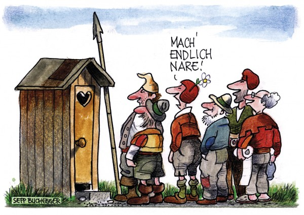 Postkarte - Ed. Sepp Buchegger - Mach' endlich nare!!