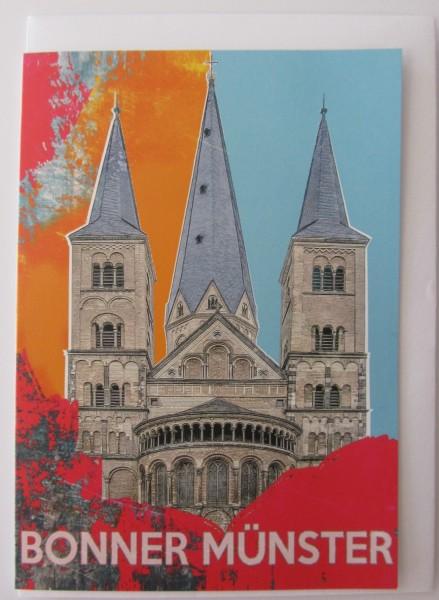 Grußkarte - Bonn Münster