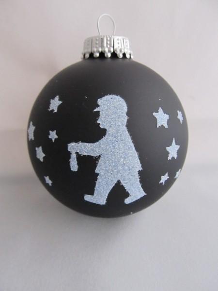 """Weihnachtskugel """"Grubenmann"""" mit Glimmer"""