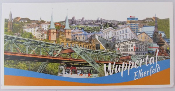 Postkarte - Röttgers - Panorama Elberfeld