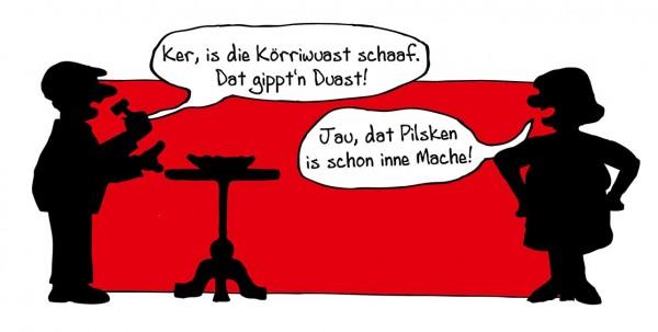Pommesschale Schaaf (rot)