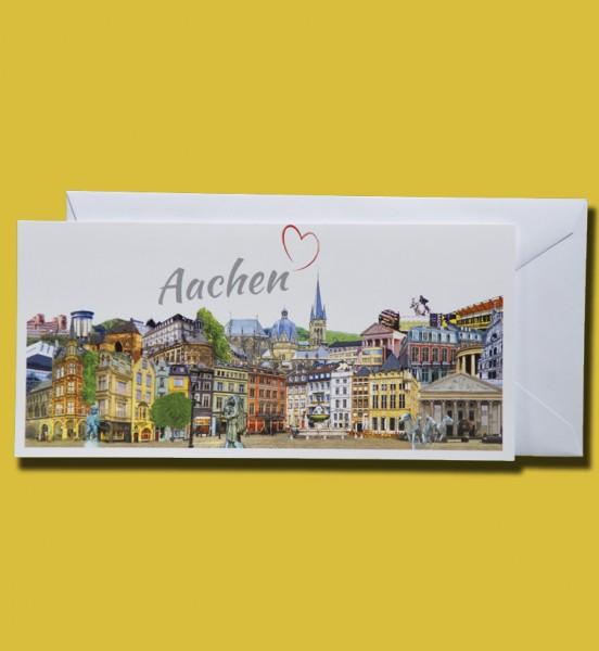 Panorama Grußkarte - Röttgers Aachen