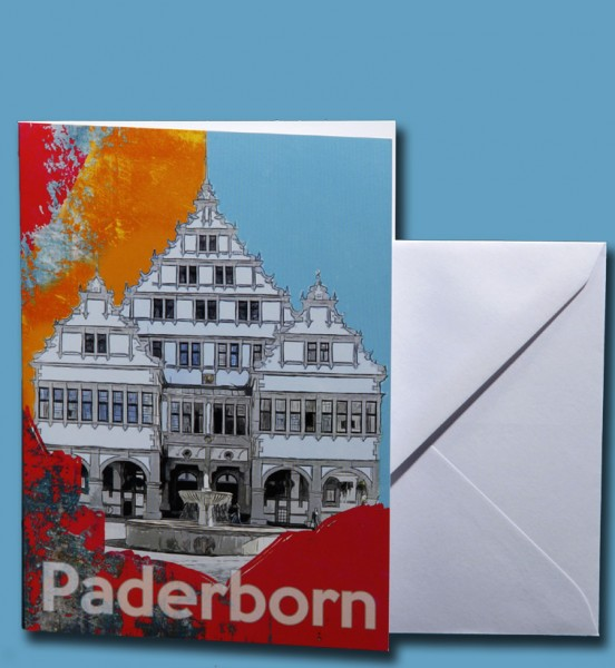 Grußkarte - Röttgers - Paderborn Rathaus