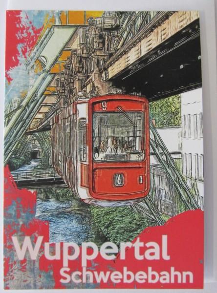 Grußkarte - Wuppertal - Schwebebahn