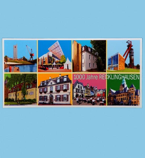 Panoramakarte - Röttgers - Landmarken - 1000 Jahre Recklinghausen