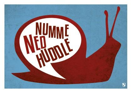 Postkarte - Numme ned huddle!