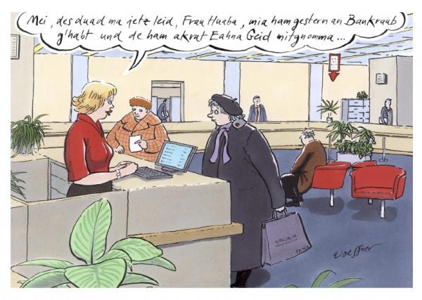 Postkarte - Freimut Woessner - Mei, des duad ma jetzt leid …