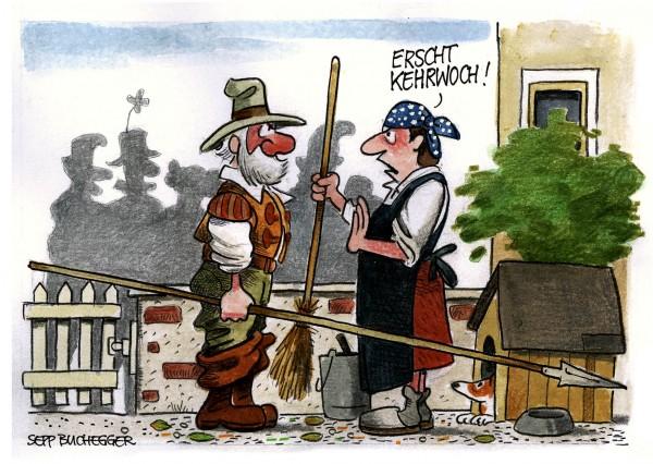Postkarte - Ed. Sepp Buchegger - Erscht Kehrwoch!