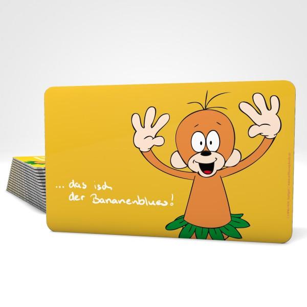 Vesper-Brettle orange Äffle - Des isch der Bananenblues.