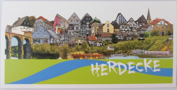 Postkarte - Röttgers - Panorama Herdecke