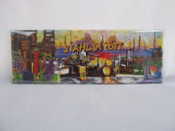 """Panoramamagnet """"Stahl im Pott"""""""