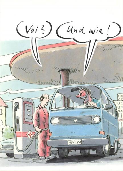 Postkarte - Freimut Woessner - Voi? Und wia!