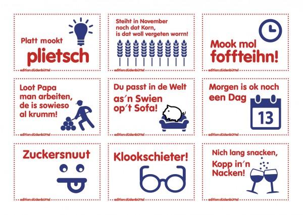 Sticker-Postkarte - 9 Motive