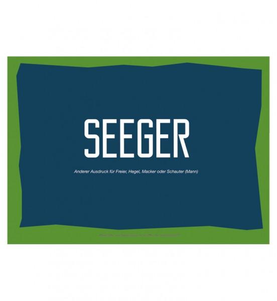 Postkarte - Seeger