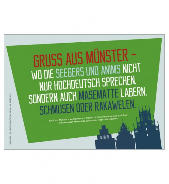 Postkarte - Gruss aus Münster