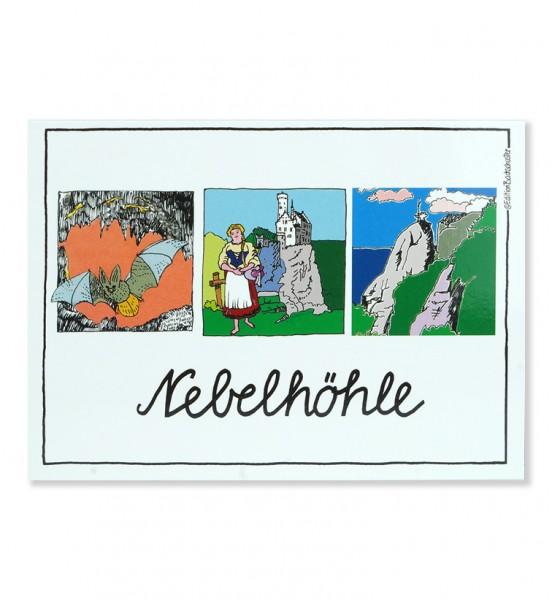 Postkarte - Schwäbische Alb - Nebelhöhle / Edition Bachschuster