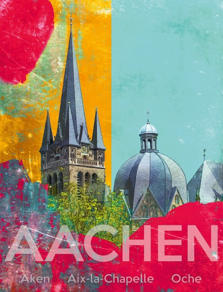 "Grußkarte - ""Aachen"""