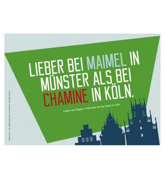 Postkarte - Lieber bei Maimel in Münster ...