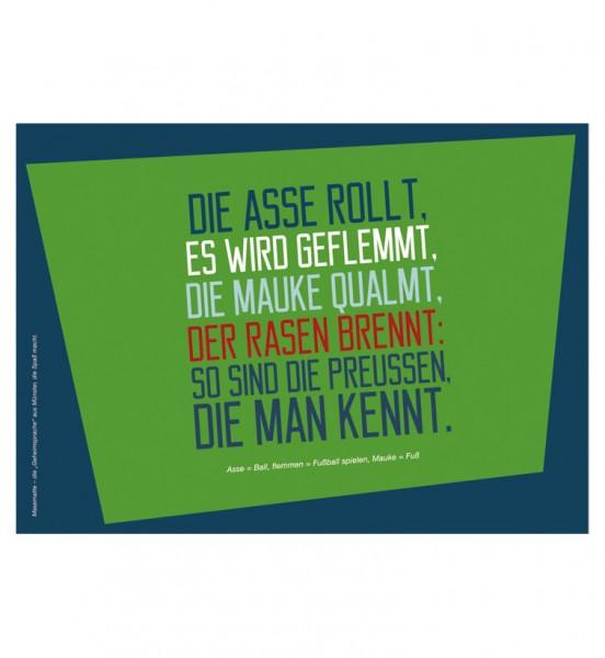 Postkarte - Die Asse rollt, ...