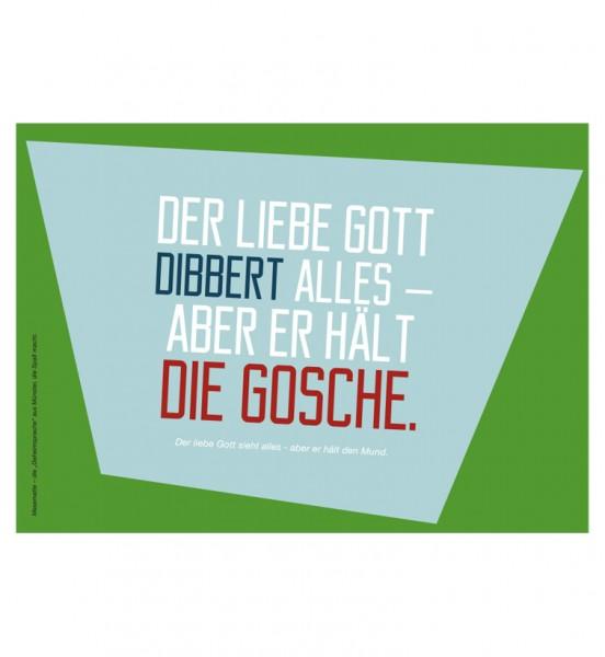 Postkarte - Der liebe Gott dibbert ...