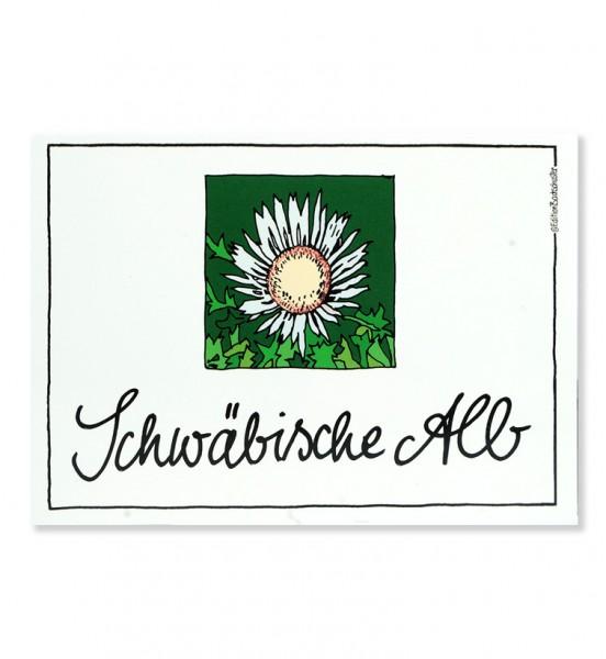 Postkarte - Schwäbische Alb - Silberdistel / Edition Bachschuster