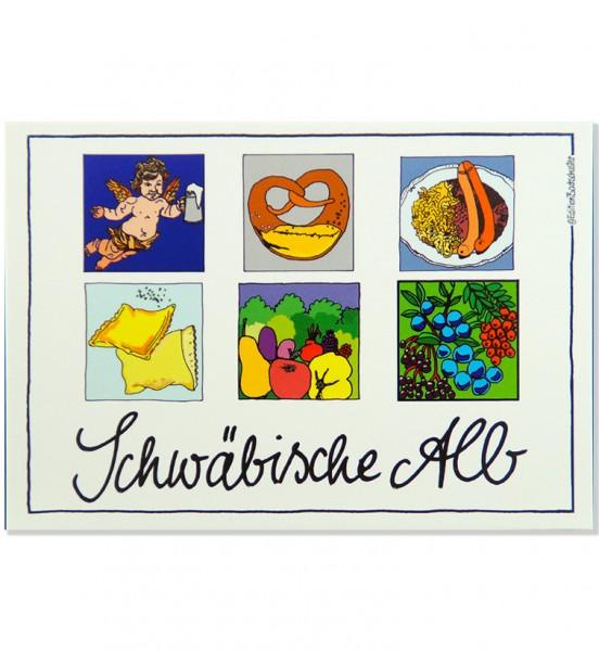 Postkarte - Schwäbische Alb - Gut essen / Edition Bachschuster