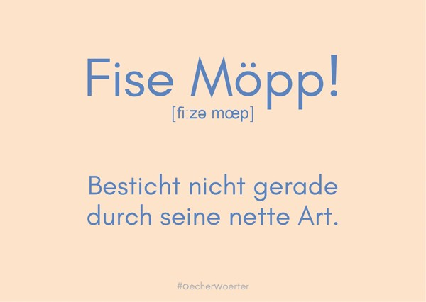 Postkarte- Fise Möpp!