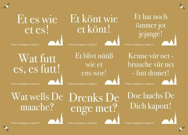Stickerpostkarte - Öcher Grundgesetz