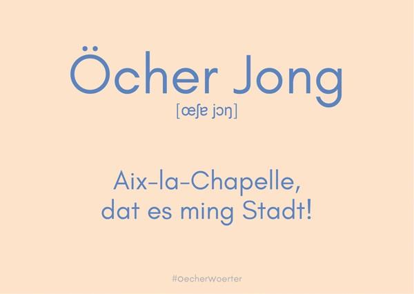Postkarte- Öcher Jong