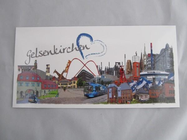 Postkarte- Gelsenkirchen