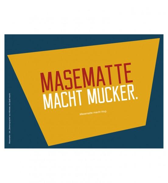 Postkarte - Masematte macht mucker.