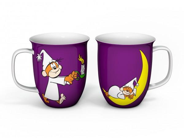 Kaffeebecher Äffle & Pferdle in lila