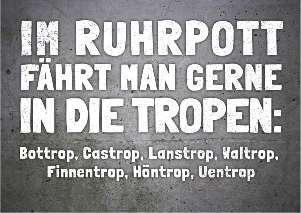 Postkarte Im Ruhrpott Fahrt Man Gerne In Die Tropen Landauf