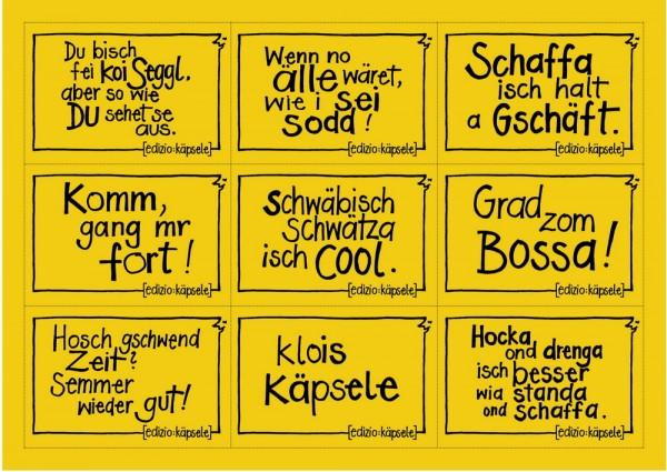 Stickerpostkarte - 9 Motive gelb - Wenn no älle wäret...