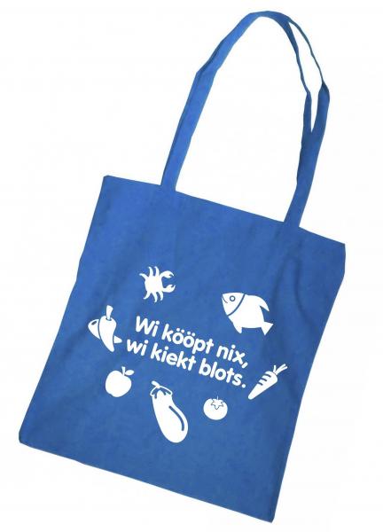 Einkaufsbeutel - Düdenbüttel - Wi kööpt nix, wi liekt blots. - blau